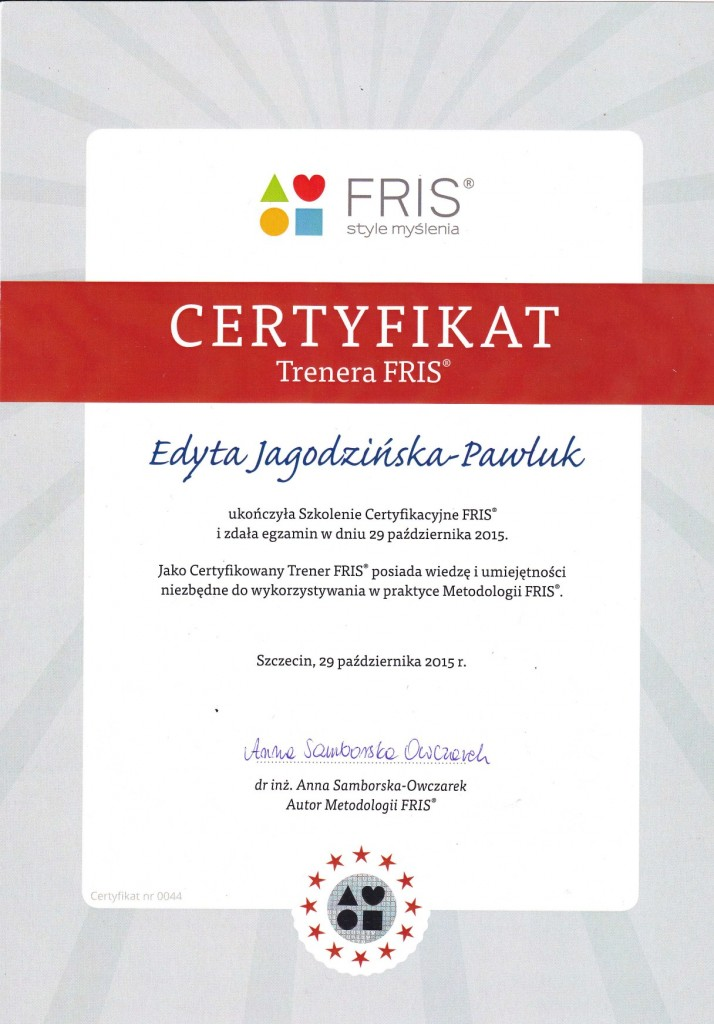 FRIS-certyfikat