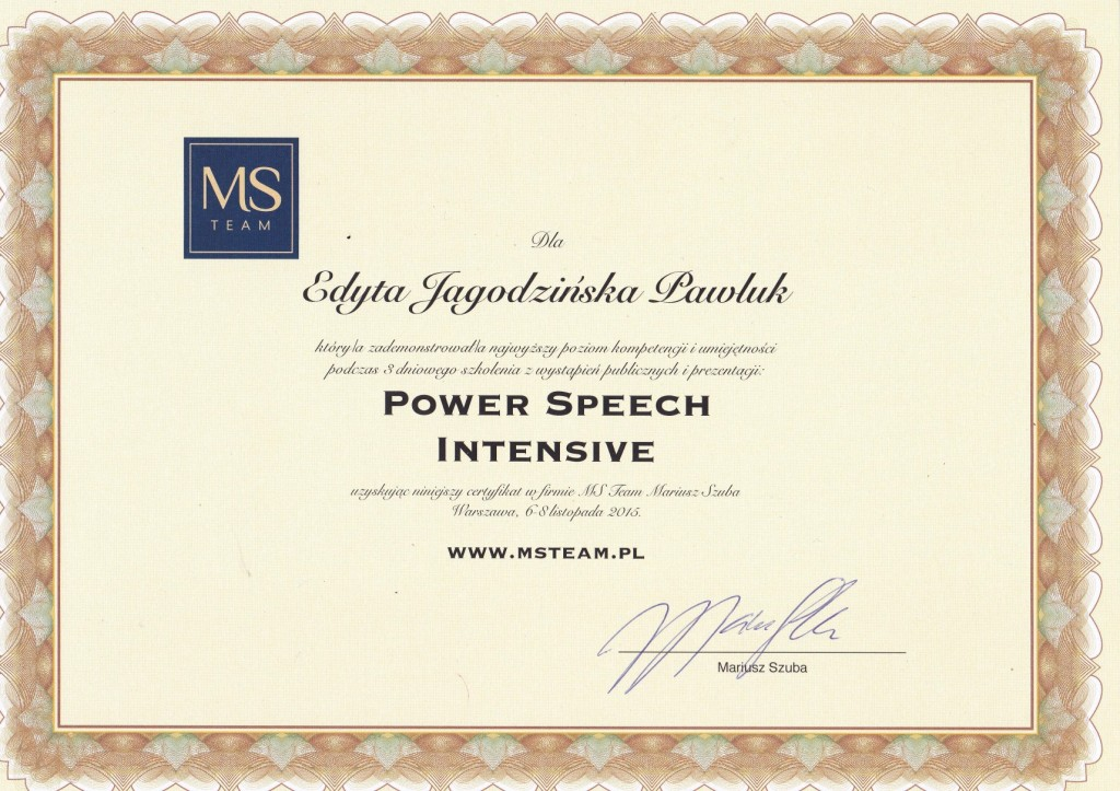 power intensive speech